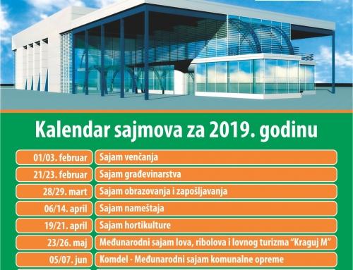 Kalendar sajmova za 2019 godinu