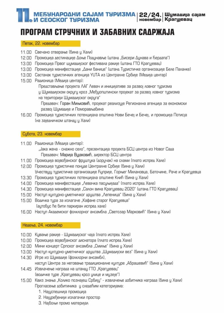 Program sajma turizma 2019